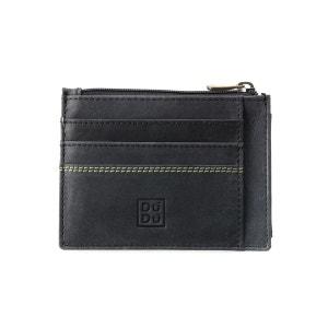 Porte-cartes de crédit Porte-monnaie pour Homme en Cuir Vintage vieilli Portefeuille Slim avec Fermeture zippée NUVOLA PELLE