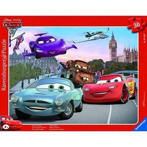 Puzzle cadre - 30 pièces - Cars 2 : Toute l'équipe à Londres RAVENSBURGER