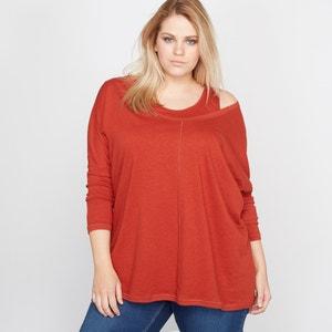 Camiseta 2 en 1 con top de lino y algodón CASTALUNA
