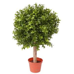 Boule de buis sur tronc en pot H 35 cm D 25 cm 396 feuilles top aspect - choisissez votre taille: H 34 cm ARTIFICIELLES