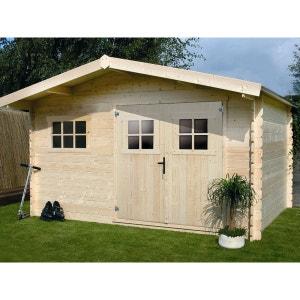 Abri jardin bois - 19,72 m² - 4.64 x 4.25 x 2,32 m - 28 mm HABITAT ET JARDIN