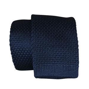 Cravate tricot bleu marine CHAPEAU-TENDANCE