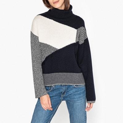 Пуловер с воротником с отворотом из оригинального трикотажа GAEL Пуловер с воротником с отворотом из оригинального трикотажа GAEL BERENICE
