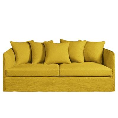 canape jaune moutarde en solde la redoute. Black Bedroom Furniture Sets. Home Design Ideas