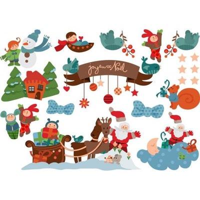 Planche Stickers Scène de Noël Planche Stickers Scène de Noël DECOLOOPIO