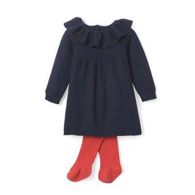 Conjunto vestido + collants, 1 mês - 3 anos Conjunto vestido + collants, 1 mês - 3 anos La Redoute Collections