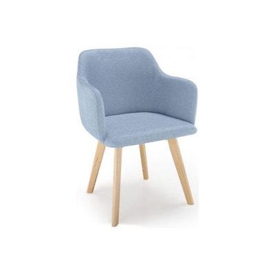 chaise style scandinave tissu bleu saga chaise style scandinave tissu bleu saga declikdeco - Chaises Scandinaves Bleu