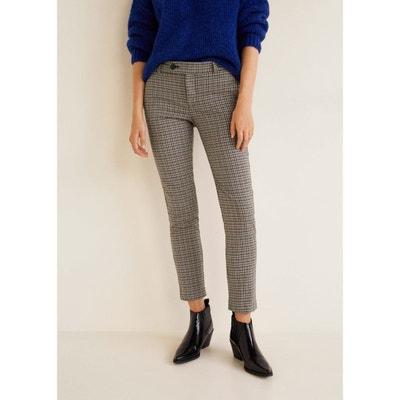 Pantalon droit à carreaux Pantalon droit à carreaux MANGO f88179d2fd38