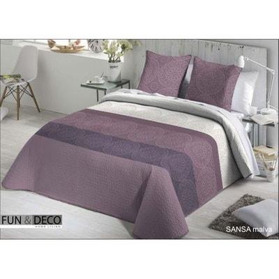 dessus de lit taies sansa dessus de lit taies - Couvre Lit Violet