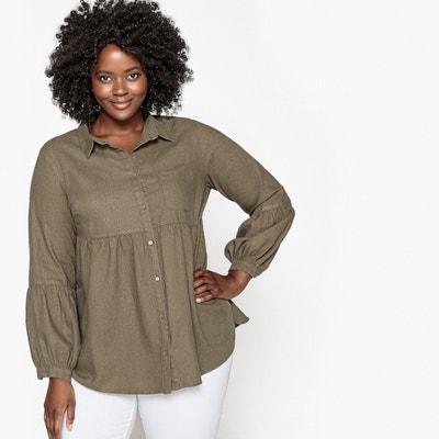 Camisa lisa de lino CASTALUNA