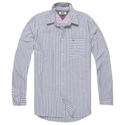 Long-Sleeved Striped Straight Cut Shirt Long-Sleeved Striped Straight Cut Shirt TOMMY JEANS