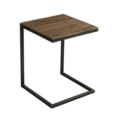 bout de canap bois de teck recycl mtal noir swing bout de canap bois de teck - Bout De Canape Bois