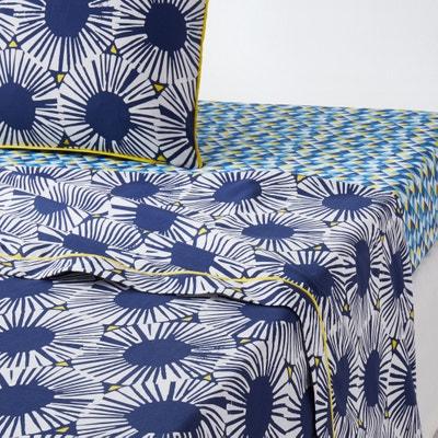 Sábana estampada 100% algodón, Blue Riviera La Redoute Interieurs