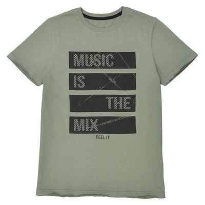 t-shirt col rond imprimé 10-16 ans La Redoute Collections 73acbde4961