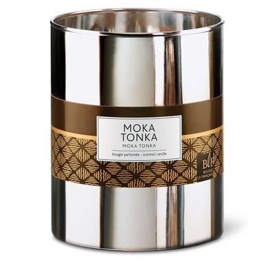 Bougie parfumée XL verre argenté 100h moka tonka Bougie parfumée XL verre argenté 100h moka tonka BOUGIES LA FRANÇAISE