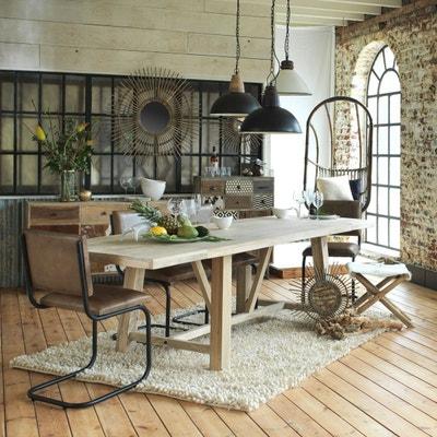 Chaise industrielle cuir et métal pieds en S  |  ME Chaise industrielle cuir et métal pieds en S  |  ME MADE IN MEUBLES