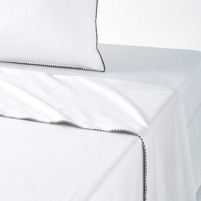 Sábana de percal de algodón lavado, festón, Adrio La Redoute Interieurs