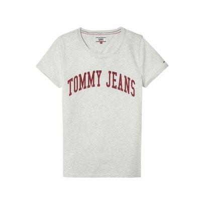 T-shirt com decote em V, logótipo TOMMY JEANS T-shirt com decote em V, logótipo TOMMY JEANS TOMMY JEANS