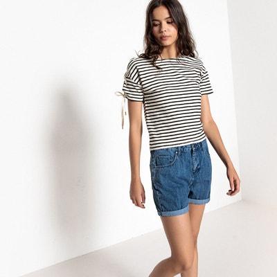 T-shirt rayé, liens épaules, manches courtes La Redoute Collections