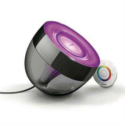 LIVING COLORS IRIS - Lampe d'ambiance LED couleurs changeantes télécommandée Noir H20cm PHILIPS