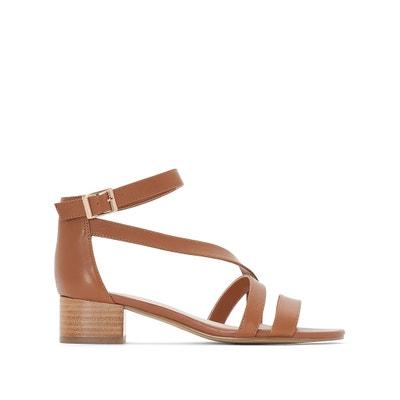 Sandalias de piel con tacón cuadrado ANNE WEYBURN