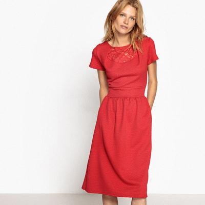 Lace Detail Midi Dress MADEMOISELLE R