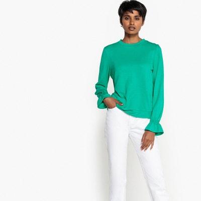 Sweatshirt mit gerafften Ärmelabschlüssen Sweatshirt mit gerafften Ärmelabschlüssen La Redoute Collections