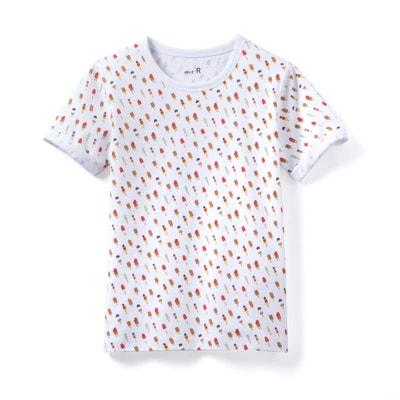 "T-Shirt, bedruckt ""Eis"", 3-12 Jahre La Redoute Collections"