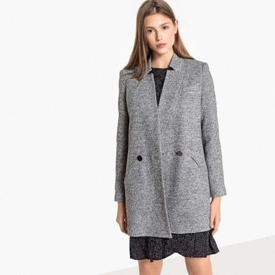 Manteau coupe droite, laine mélangée Manteau coupe droite, laine mélangée  BEST MOUNTAIN f4d4689af0cd