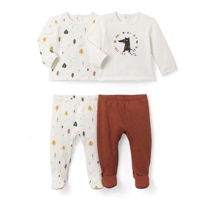 Lot de 2 pyjamas 2 pièces en molleton 0mois-3ans Lot de 2 pyjamas 2 pièces en molleton 0mois-3ans La Redoute Collections