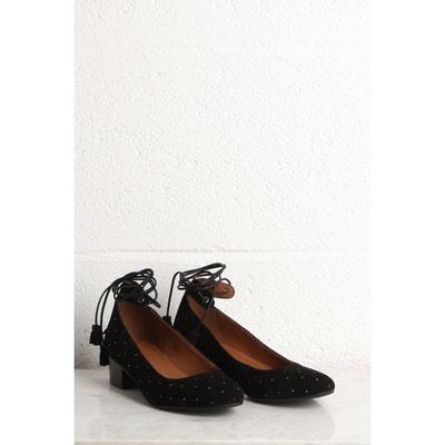Chaussures city cuir suédé à talon  noir Bonobo  La Redoute