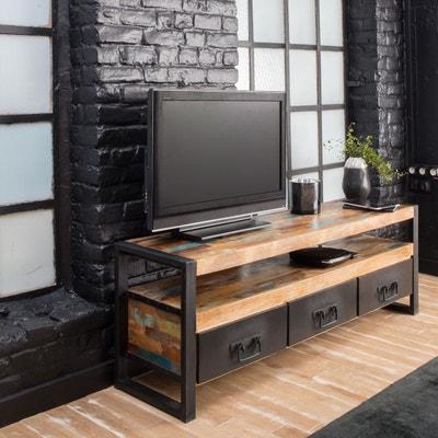Meuble TV industriel 3 tiroirs bois et métal  |  MOX12 Meuble TV industriel 3 tiroirs bois et métal  |  MOX12 MADE IN MEUBLES