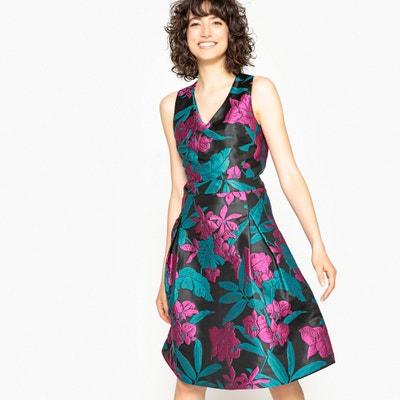Robe trapèze sans manches jacquard floral MADEMOISELLE R