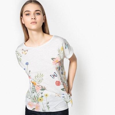 Floral Print Cotton T-Shirt TOM TAILOR