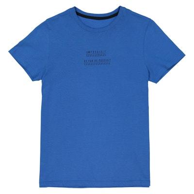 Camiseta con cuello redondo delante y detrás, 10-16 años Camiseta con cuello redondo delante y detrás, 10-16 años La Redoute Collections