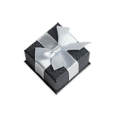 Ecrin Coffret Carton Gris Noeud Satin Bague 53 x 53 x 40 mm Textile Ecrin Coffret Carton Gris Noeud Satin Bague 53 x 53 x 40 mm Textile SO CHIC BIJOUX