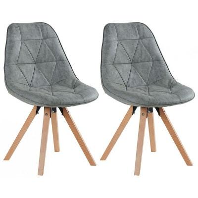 chaise scandinave capitonne maya lot de 2 pier import