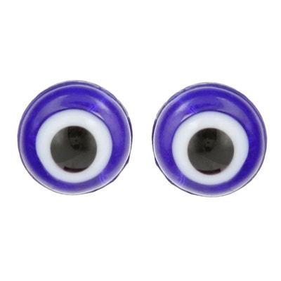 Boucles d'oreilles Clous Fille Argent 925 - Protection Mauvais Oeil SO CHIC BIJOUX