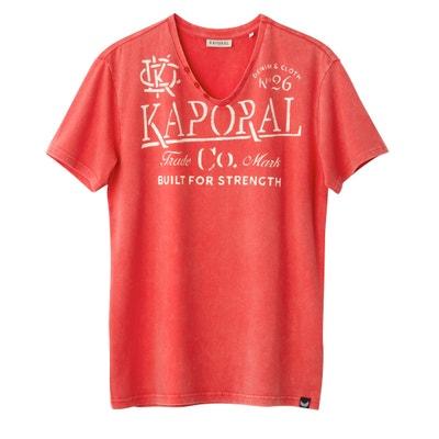 Tazor V-Neck T-Shirt with Print Motif Tazor V-Neck T-Shirt with Print Motif KAPORAL 5