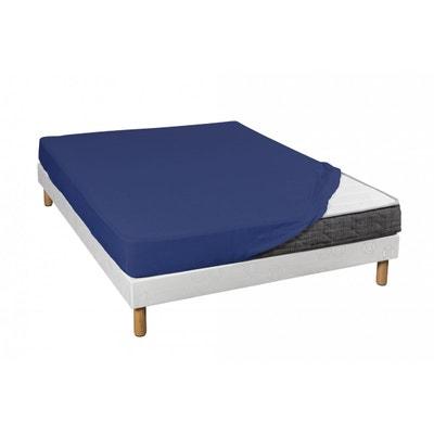 Drap Housse Bleu Marine Jersey 100% Coton Bonnet 30 cm - Terre de Nuit Drap Housse Bleu Marine Jersey 100% Coton Bonnet 30 cm - Terre de Nuit TERRE DE NUIT