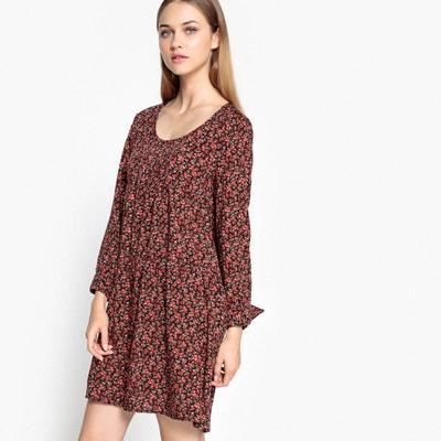Floral Print Smock Dress SUD EXPRESS