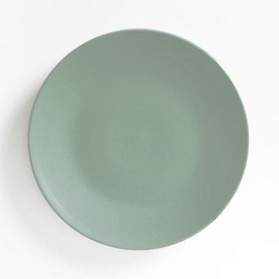 Lot 4 assiettes plates faïence mat, MELYA La Redoute Interieurs