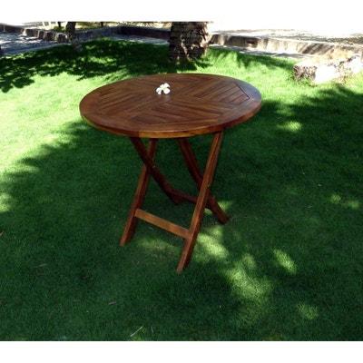 Table de jardin en fer pliante | La Redoute