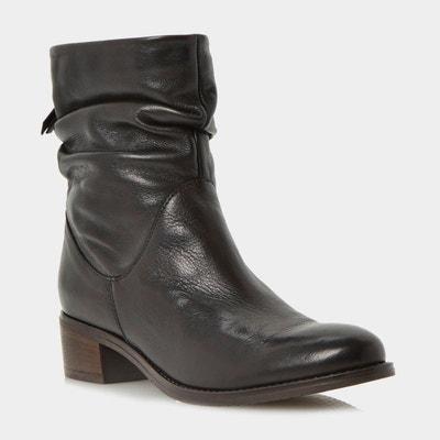 Bottines & low boots à talons 3 SUISSES cuir noir 37 nNBgX