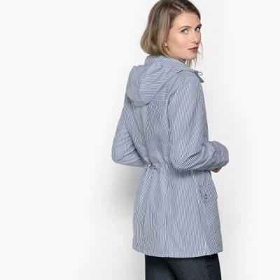 Manteau parka à capuche rayée ANNE WEYBURN