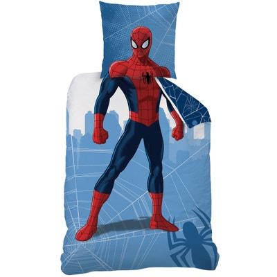 """Bedruckte Bettwäsche, reine Baumwolle, """"Spiderman Manhatan Deguisement"""" AMAZING SPIDERMAN"""