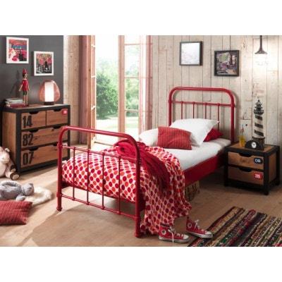 Chambre rouge et blanc   La Redoute