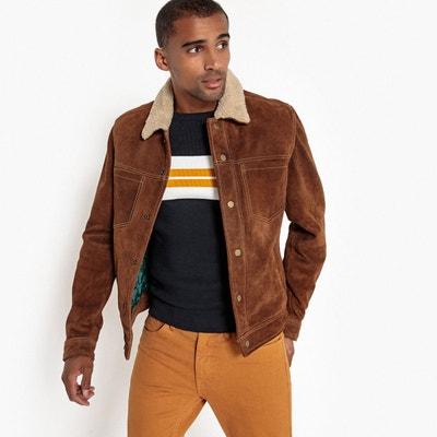 blouson veste en cuir homme en solde la redoute. Black Bedroom Furniture Sets. Home Design Ideas