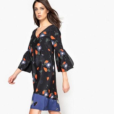 Robe droite, imprimée floral, volants manches Robe droite, imprimée floral, volants manches LA REDOUTE COLLECTIONS