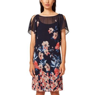Ärmelloses, bedrucktes Kleid, Reissverschluss hinten Ärmelloses, bedrucktes Kleid, Reissverschluss hinten ESPRIT